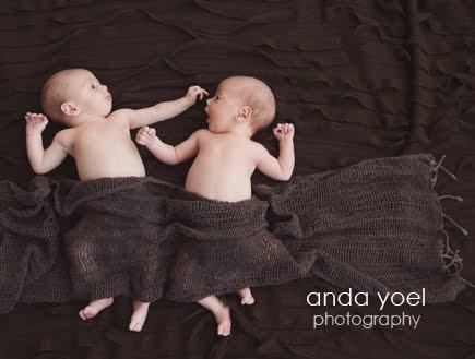 צילומי תאומים בנים בסטודיו באור טבעי - אנדה יואל