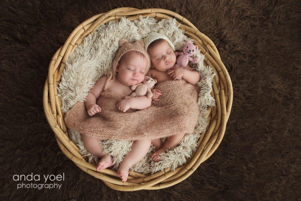 צילום תינוקות תאומים בסטודיו - אנדה יואל