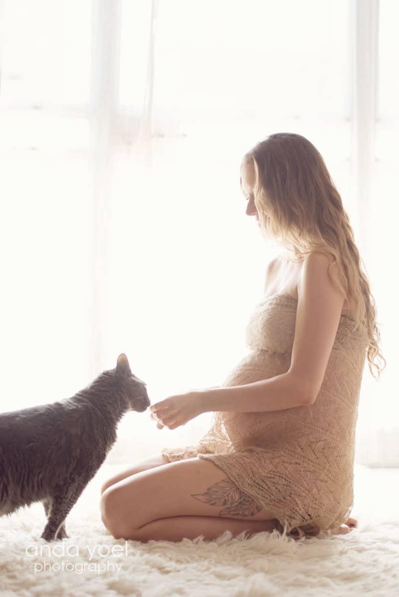 צילום הריון בסטודיו - אנדה יואל