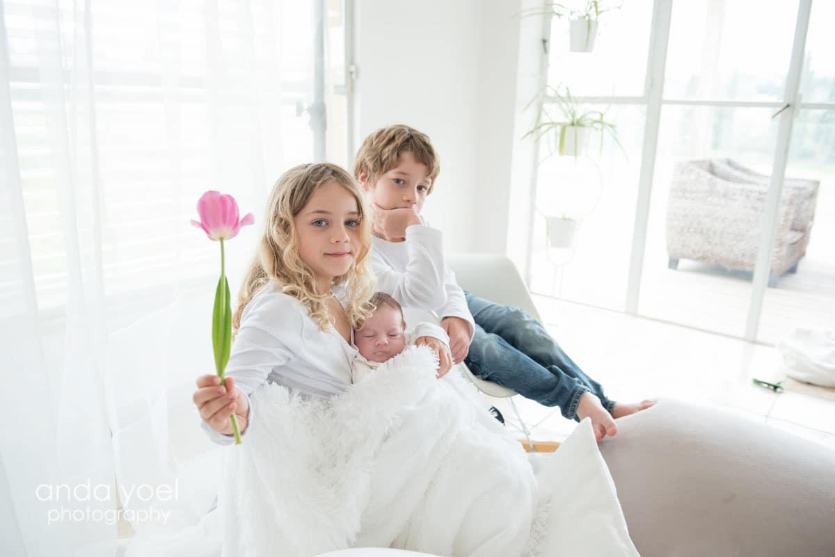 צילומי ילדים ותינוקות בבית