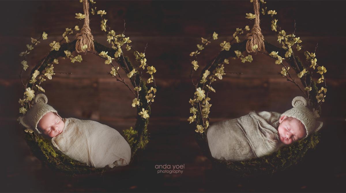 """צילומי ניו בורן תאומים בצילום """"מורכב"""" בבית"""