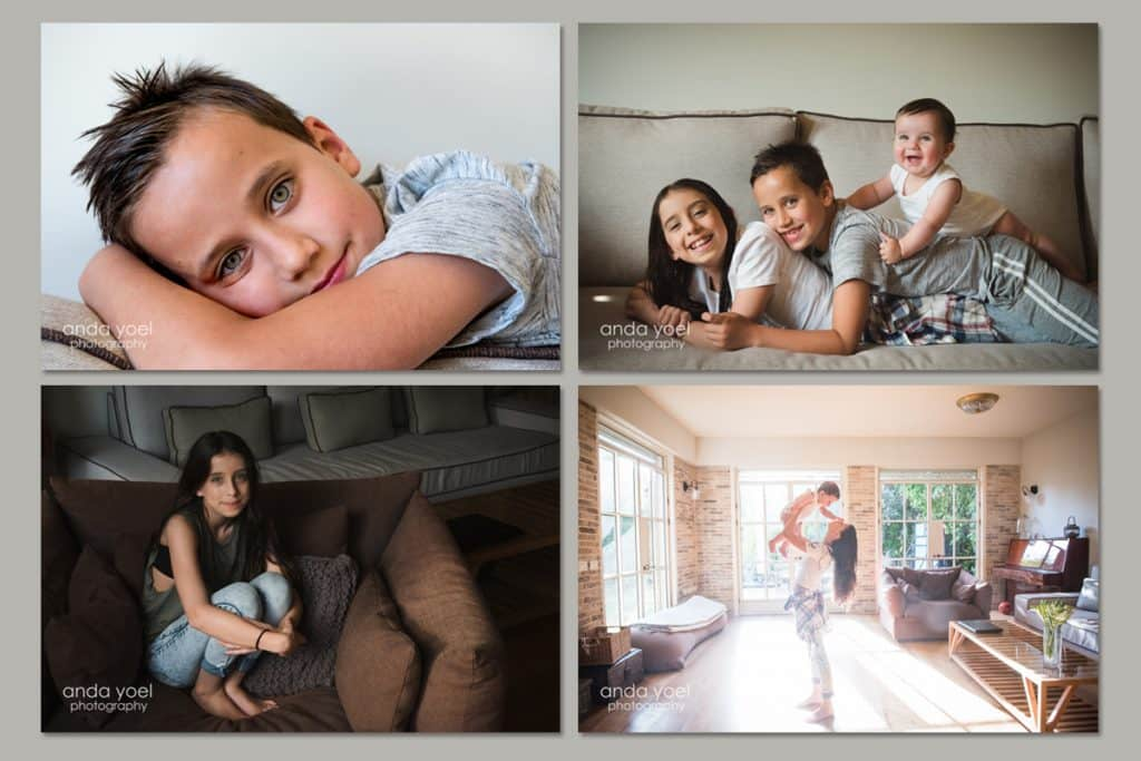 מתנה מקורית לראש השנה 4 תמונות מגנט - אנדה יואל