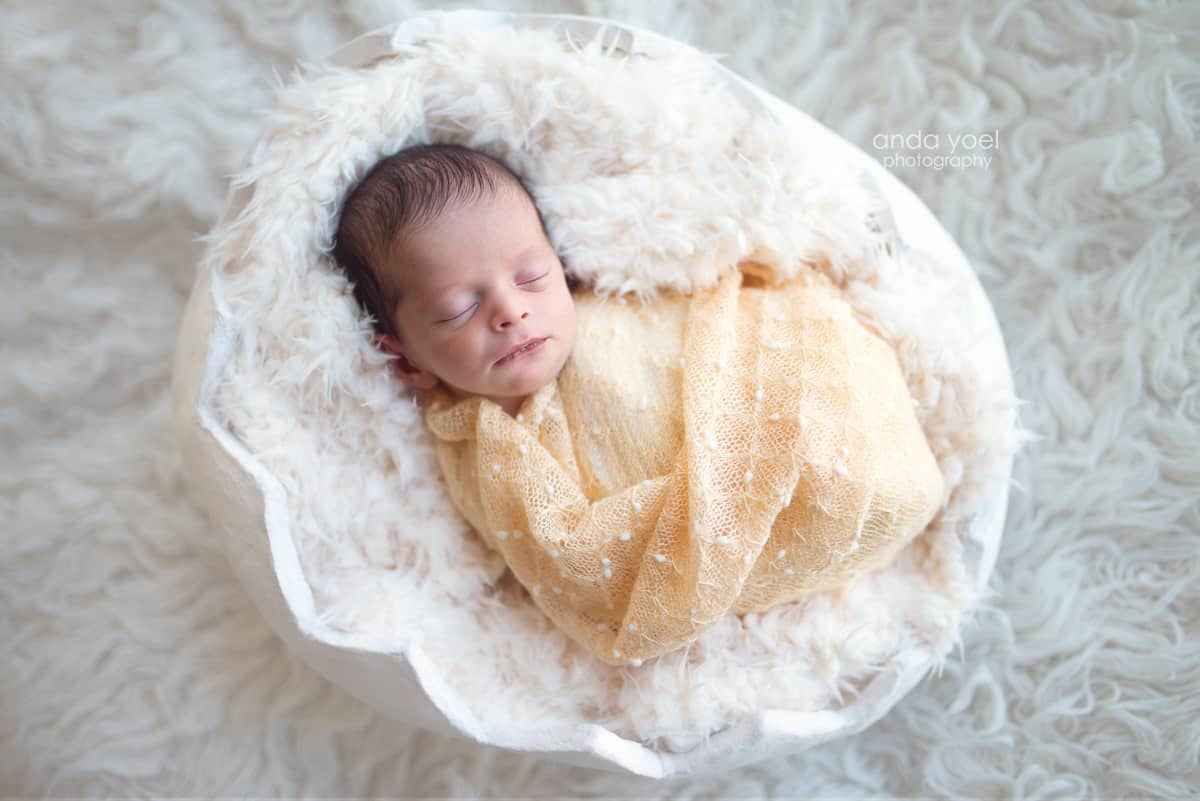 Newborn baby boy in an egg shell - newborn photographer in Tel Aviv- Anda Yoel