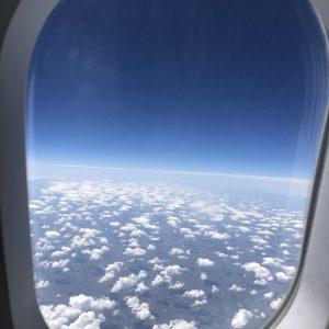 עננים יפים ורכים בטיסה לוינה