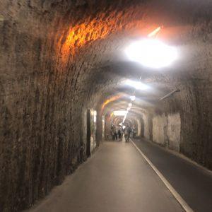 כניסה לזלצבורג דרך מנהרות חצובות בסלע