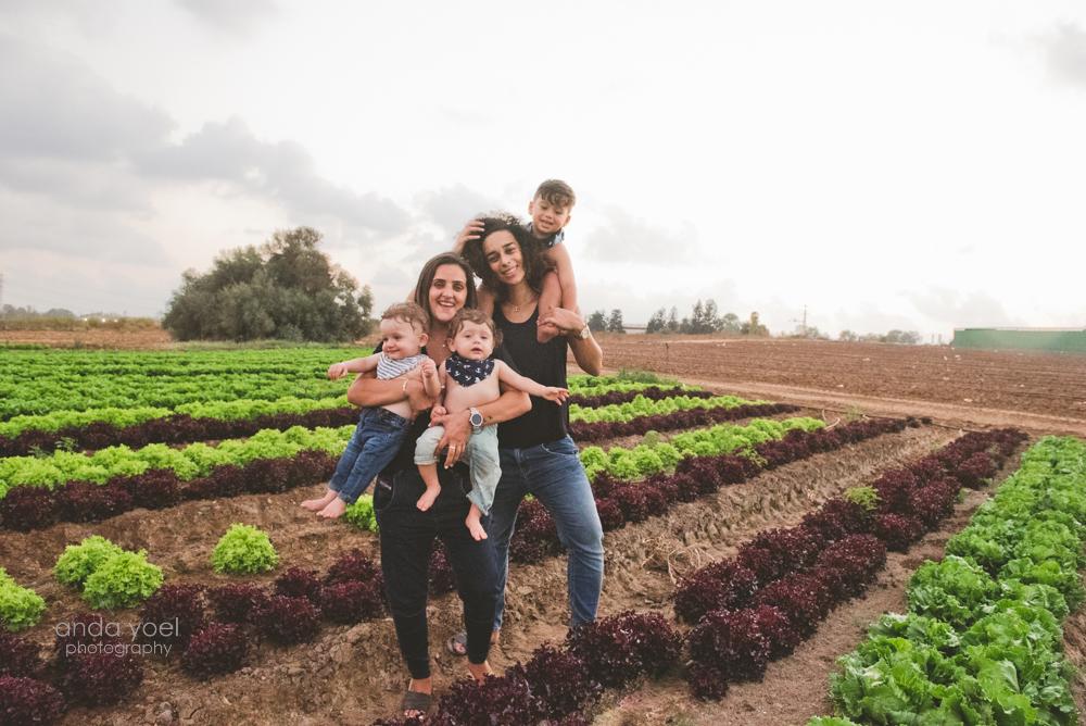 צילומי משפחה בטבע - מלי וקלייר - אנדה יואל