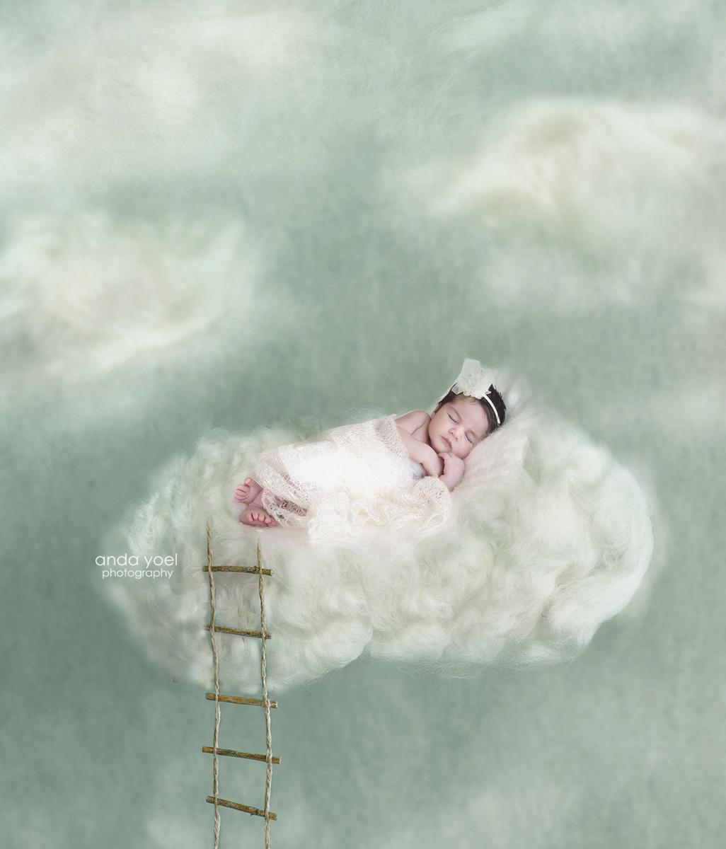 צילום ניו בורן על רקע דיגיטלי ענן על רקע תכלת- אנדה יואל