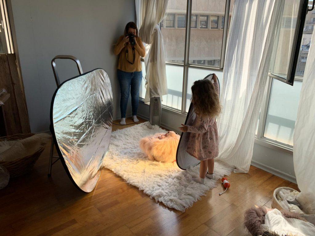 צילומי ניובורן מאחורי הקלעים - אנדה יואל - צילמה : ליהיא גרינר