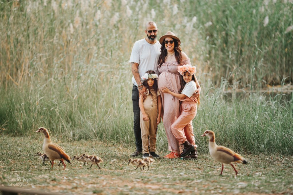 צילומי הריון ומשפחה בטבע - אנדה יואל