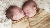 תינוקות עטופים בבד חום צילומי ניובורן - אנדה יואל