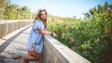 ילדה על גשר עץ בצילומי בוק בת מצווה - אנדה יואל